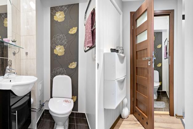Extra WC och hall i uthyrningsdel