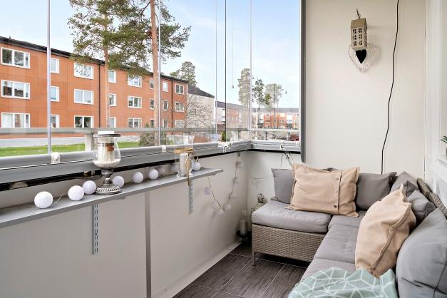 Inglasad balkong
