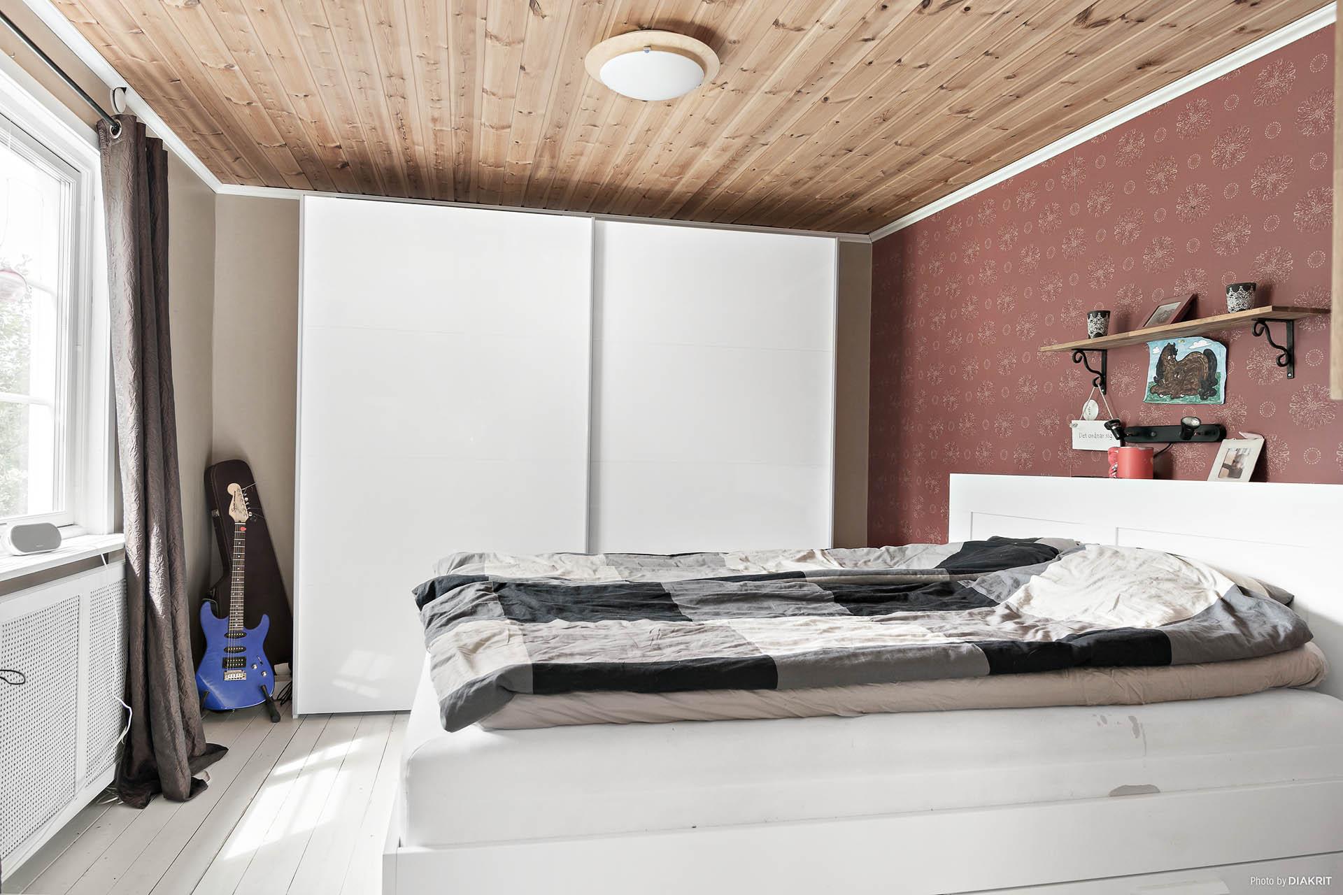Sovrum i entréplan