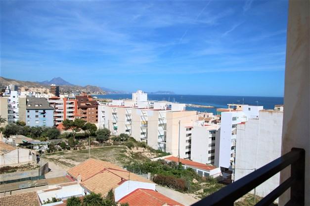 Havsutsikt från den privata terrassen