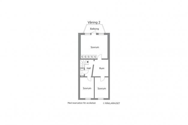 Planritning våning 2