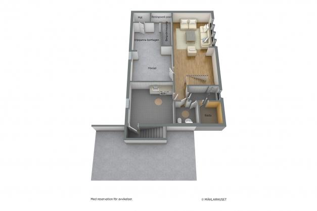 Källarvåning 3D, ej skalenlig