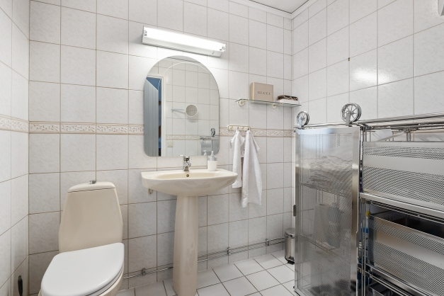 Toalett på entréplan.