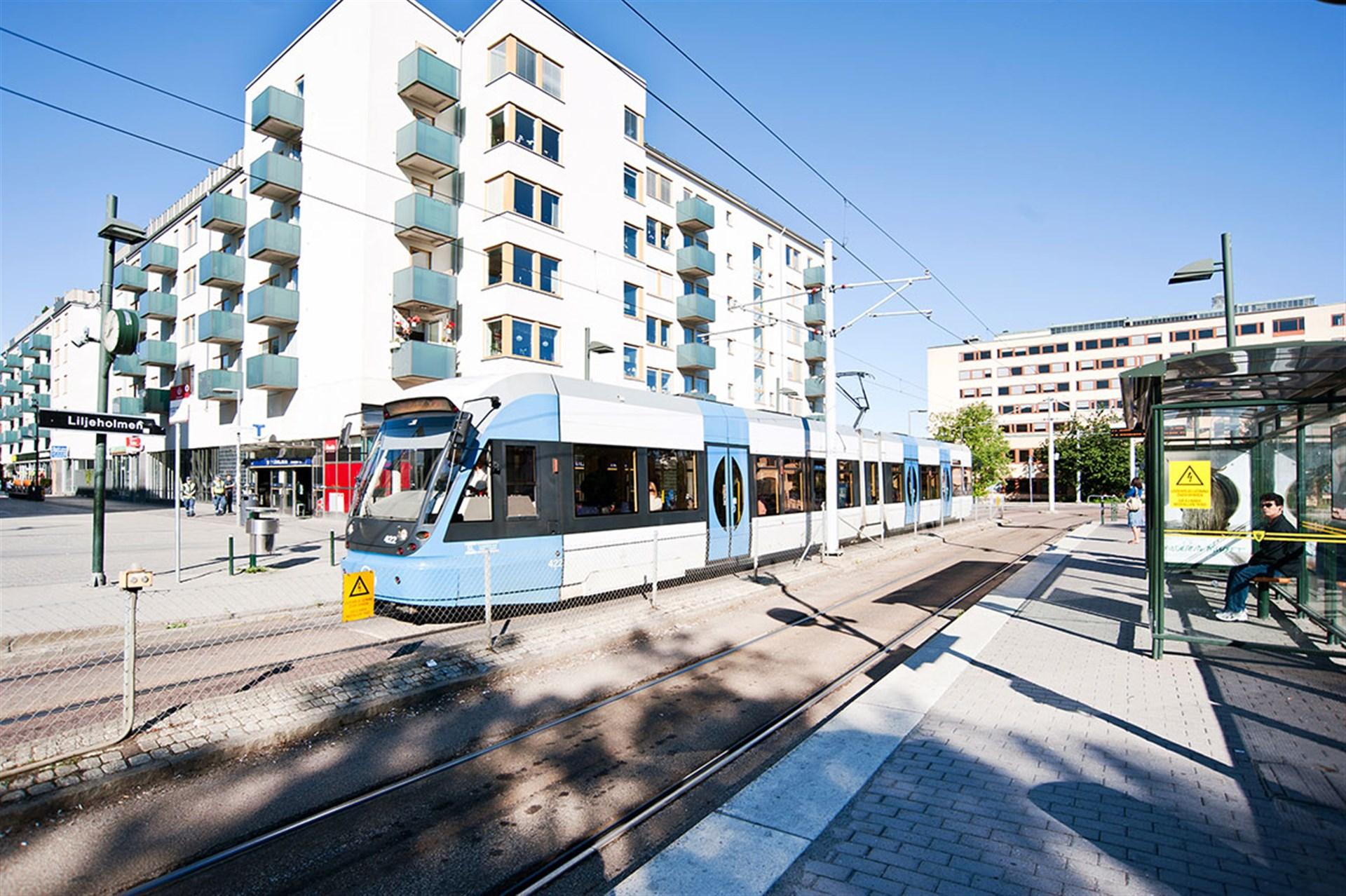 Tvärbanan vid Liljeholmstorget