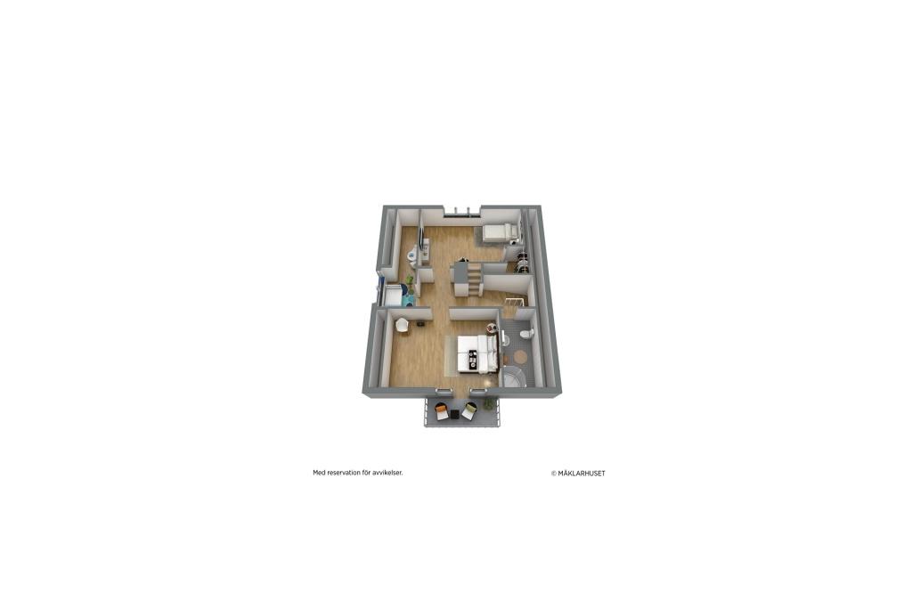 Ovanvåning (möjlig möblering)