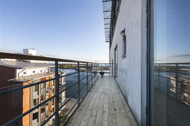 Vy från balkong 2 - söderut