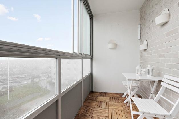 Inglasad balkong med fritt läge
