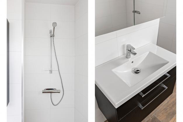 Snygg inredning i badrummet