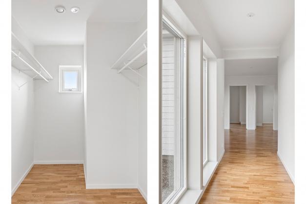 Walkin-closet till sovrum 1