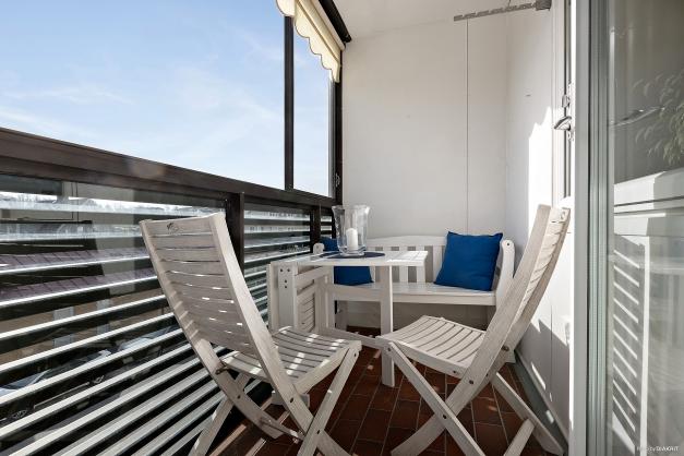 Inglasad balkong i österläge