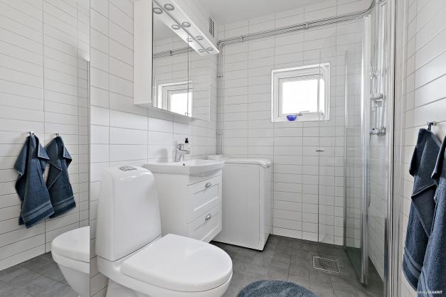Helkaklad toalett/dusch renoverad 2018
