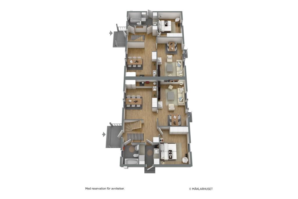 Planlösning 3D BJARKE Entréplan