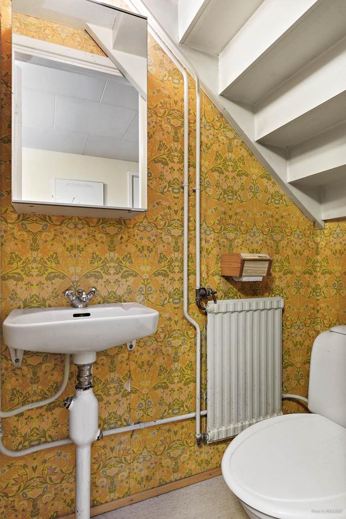 Toalett i källaplan