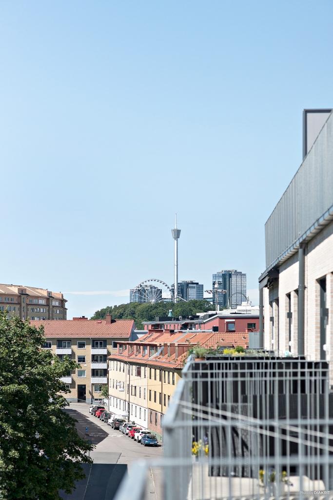Utsikt från balkongen mot Liseberg
