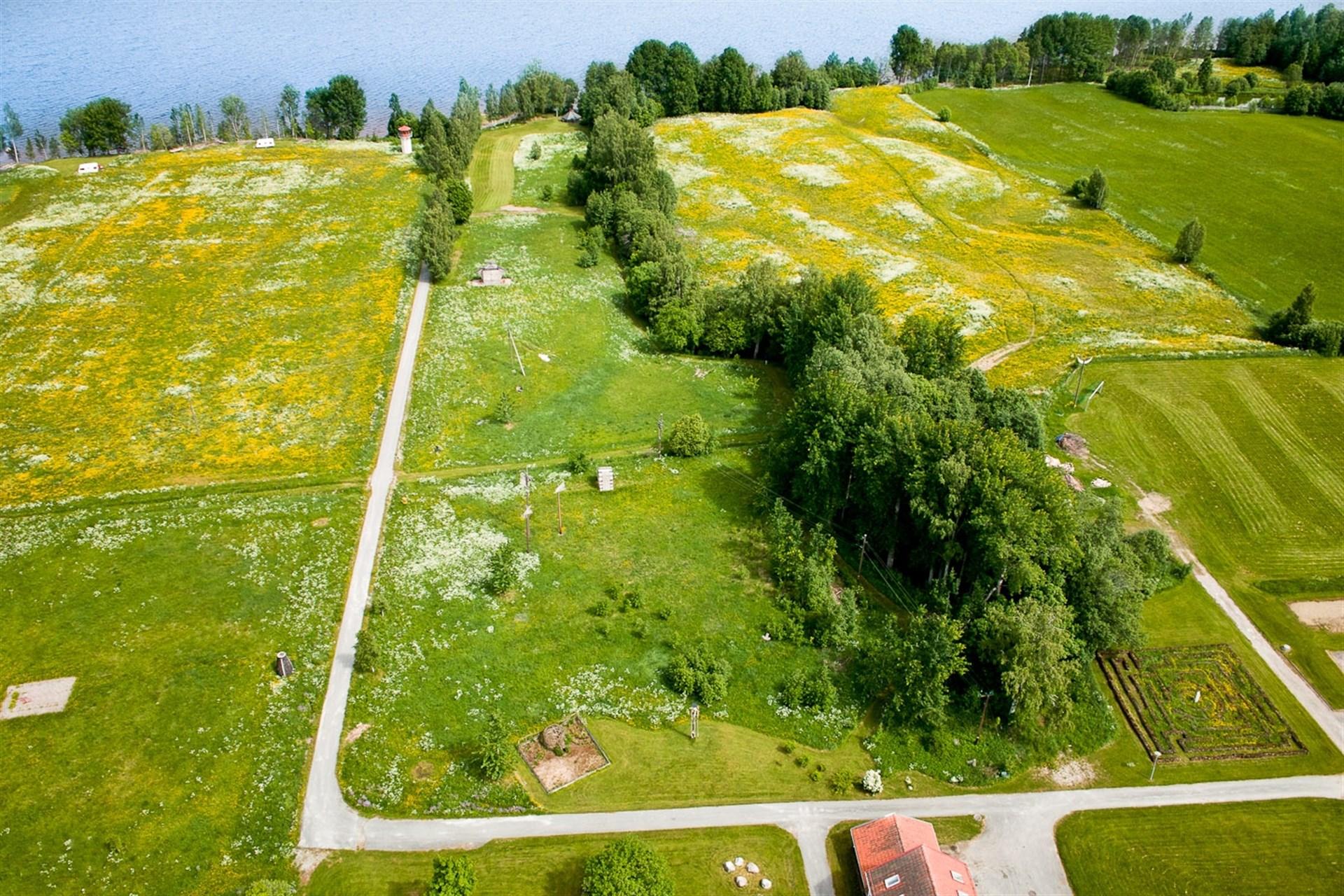 Bild innan byggnation, idag finns 3 bebyggda fastigheter på marken.