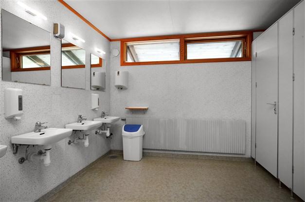 Toaletter vid entrén