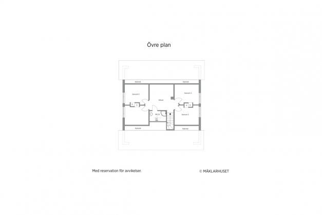 Övre plan 2D planritning.