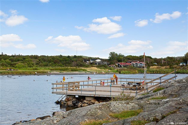 Lerkils badet som ligger på cykel och gångavstånd från bostaden.