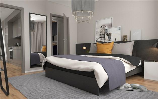 Illustrationsbild, sovrum från en 3:a