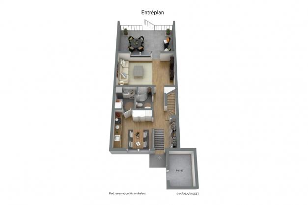 Planlösning - Entréplan 3D
