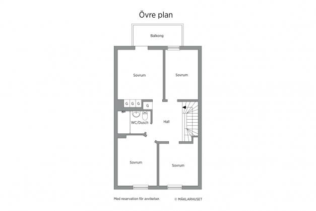 Planlösning - Övre plan
