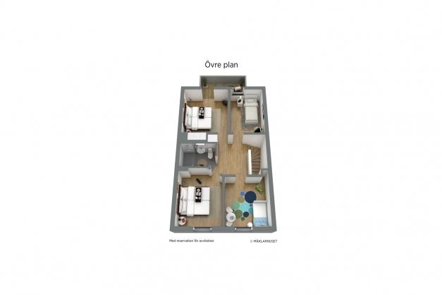 Planlösning - Övre plan 3D