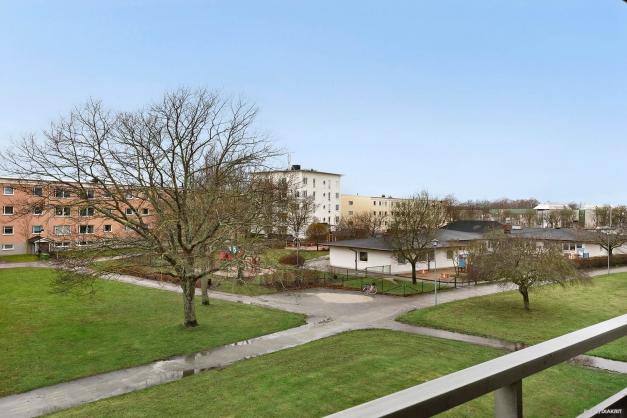 Utsikt över området från balkong