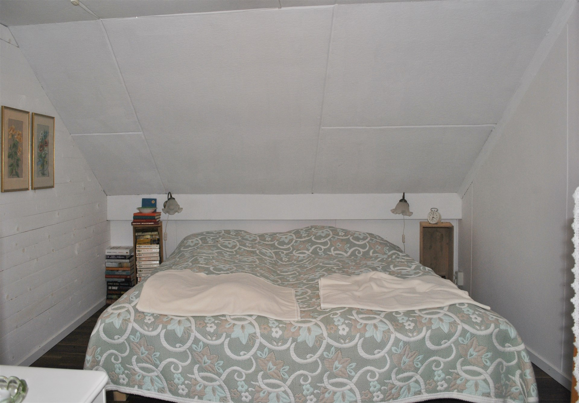 Sovrum på loftet