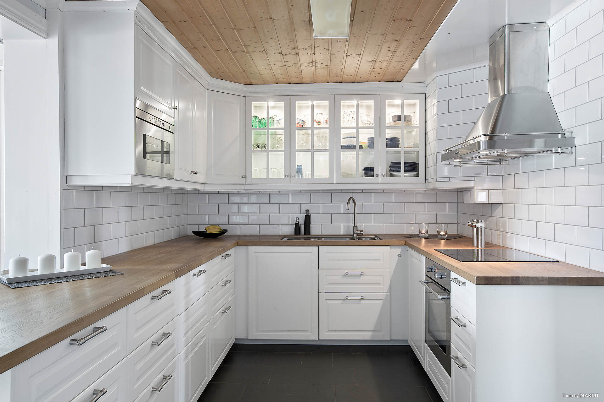 Kök med gott om arbetsytor