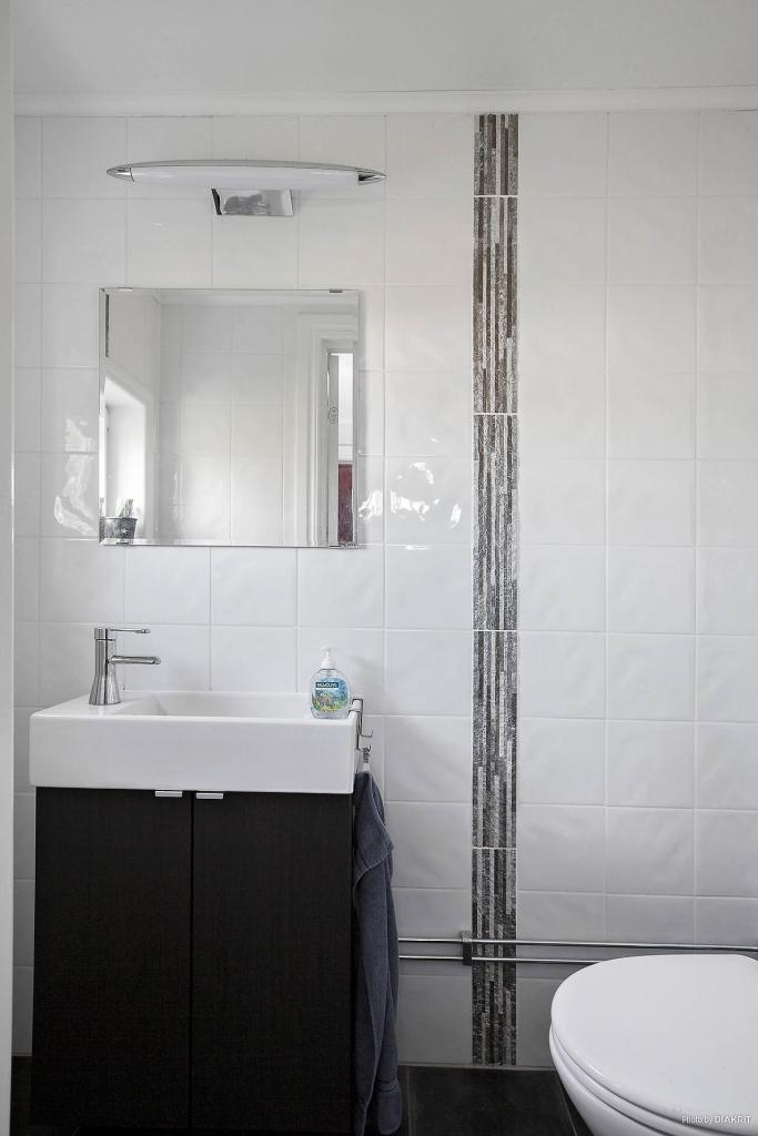 Helkaklad toalett i entréplan