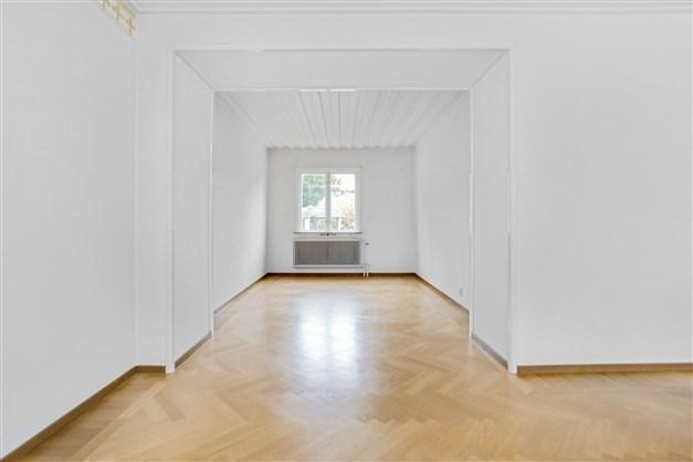 Del av vardagsrummet som finns möjlighet att nyttja som matrumsdel.