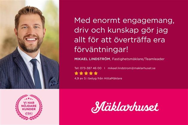 Mikael Lindström, ansvarig mäklare