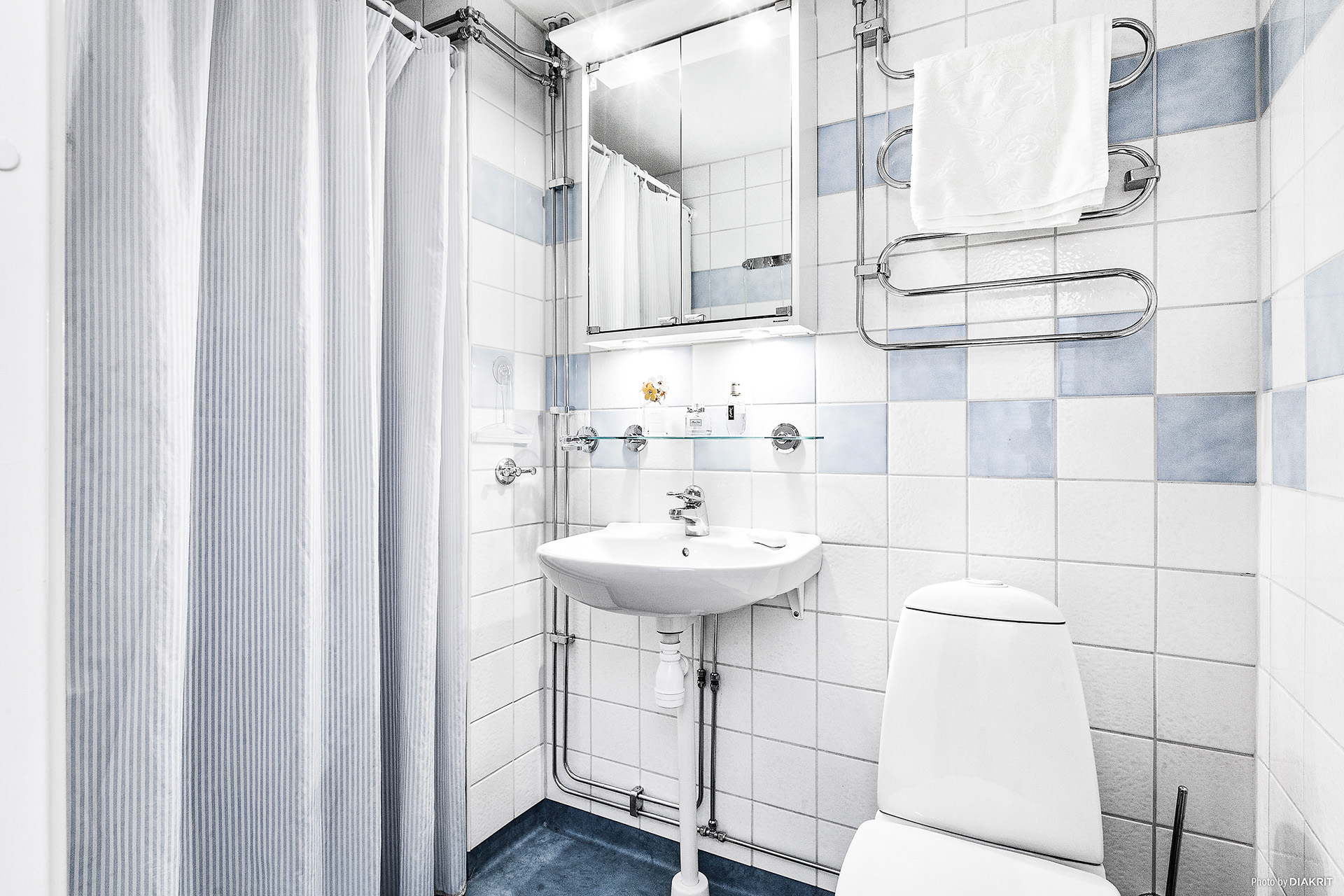 Gästtoalett med dusch