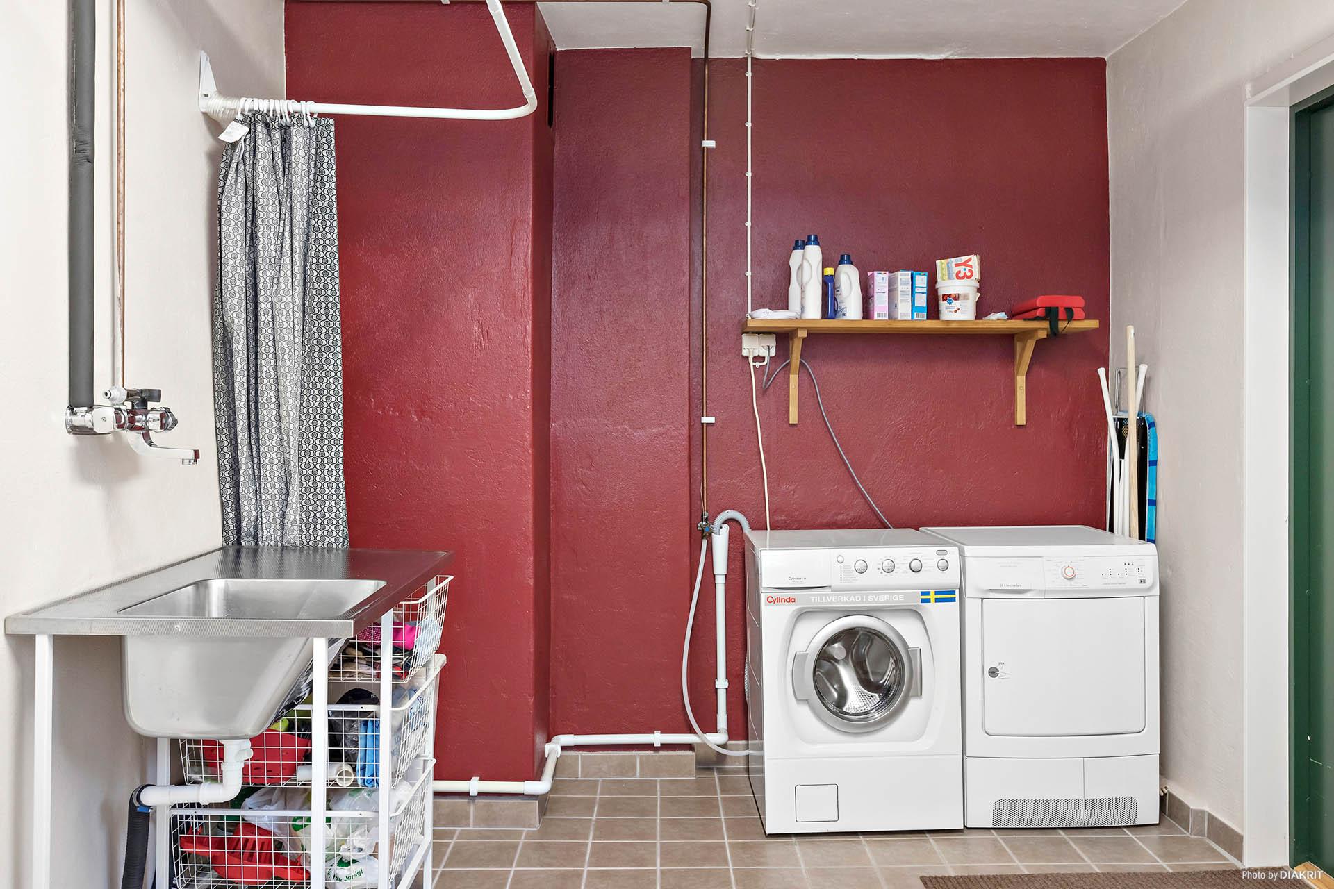 Tvättstuga i uthuslängan