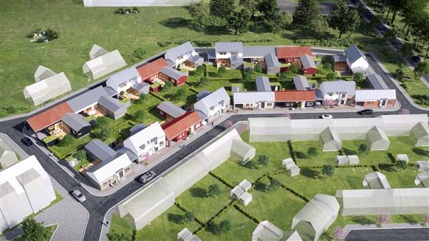 Kom närmare. Personligt, unikt, vackert. Och nära till allt. I den första etappen av Åhusvången förverkligas 17 högkvalitativa bostäder, stilrent skiftande i form och färg.