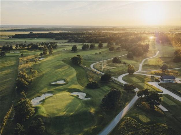 Kristianstads GK, rankad som Sveriges tredje bästa golfbana.