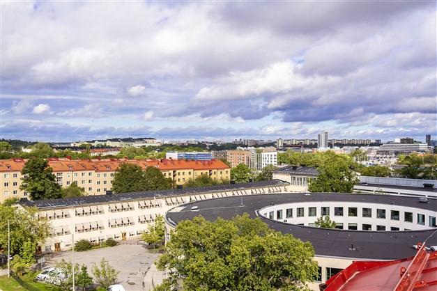 Magnifik utsikt från takterrassen