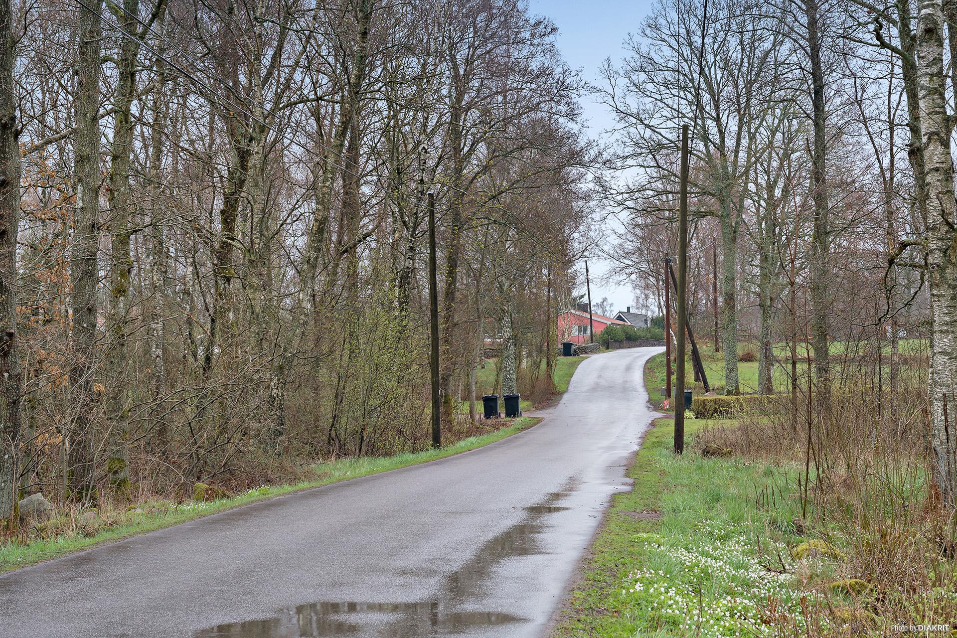 Genom den mysiga skogen slingrar sig vägen som tar dig till Gånarps Backaväg 85.