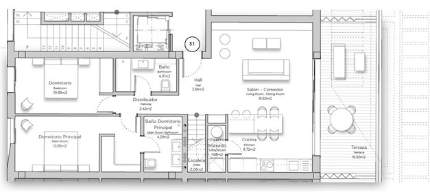 Lägenhet B31 - entréplan