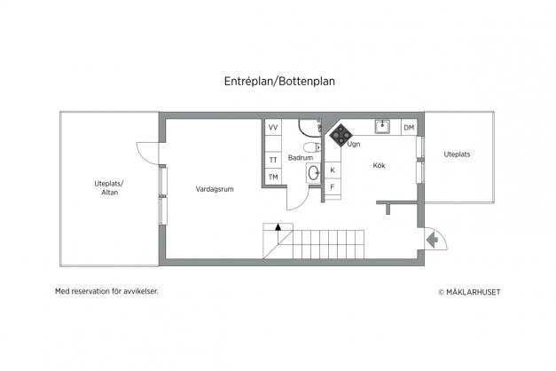 Entréplan 2D planritning