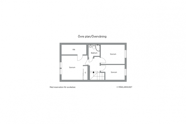 Övre plan 2D planritning