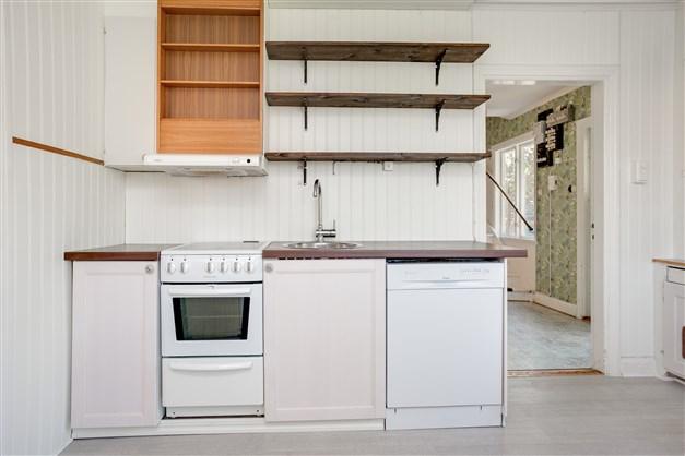 Köket är fullt utrustat.