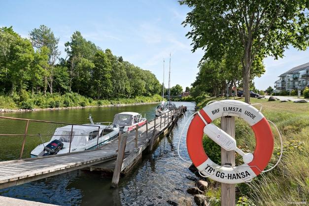 Föreningens båtplatser nere i kanalen