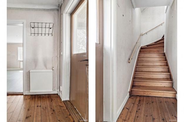 Entré med trappa upp till övervåning