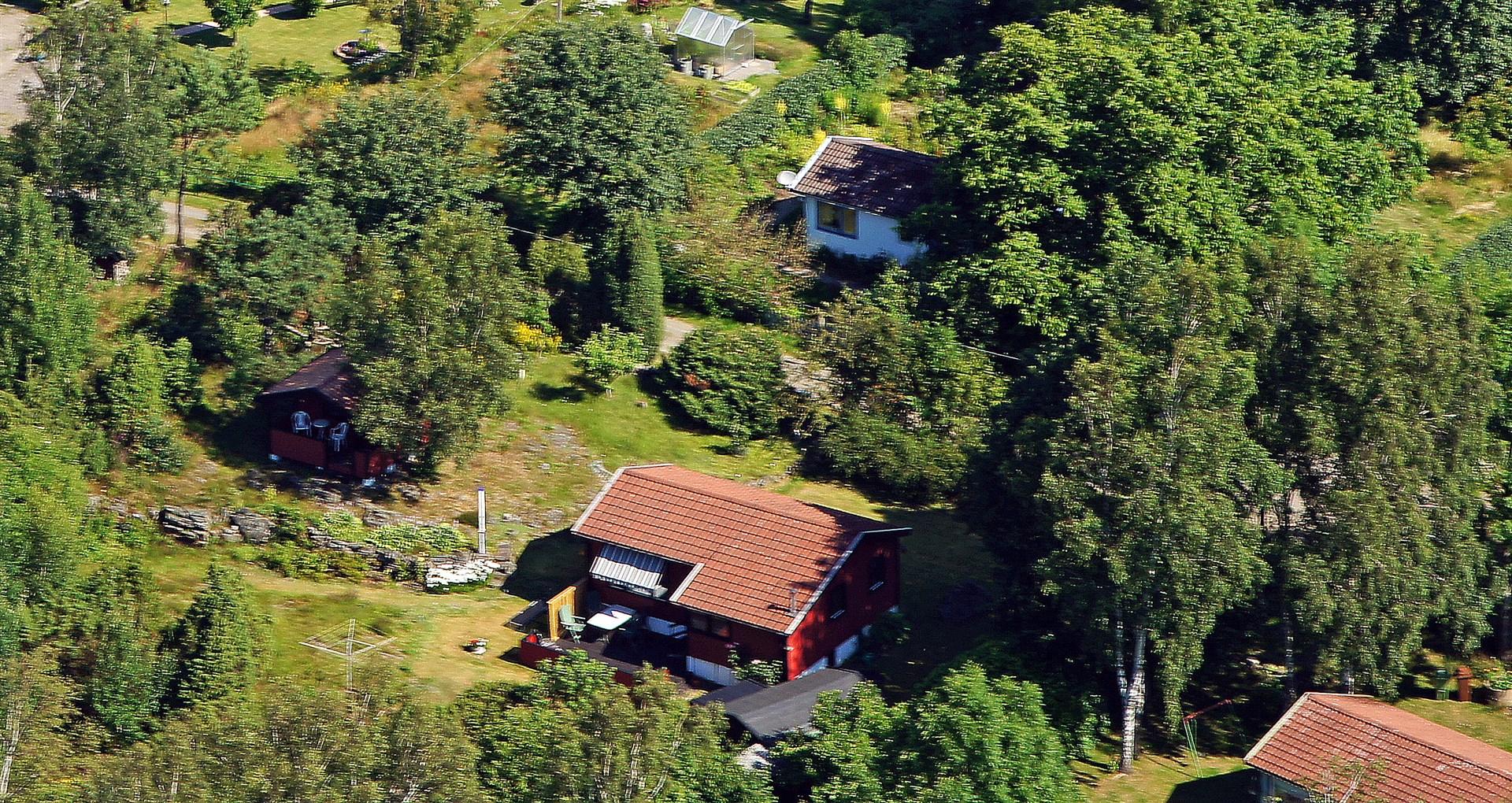 Flygbild över huset