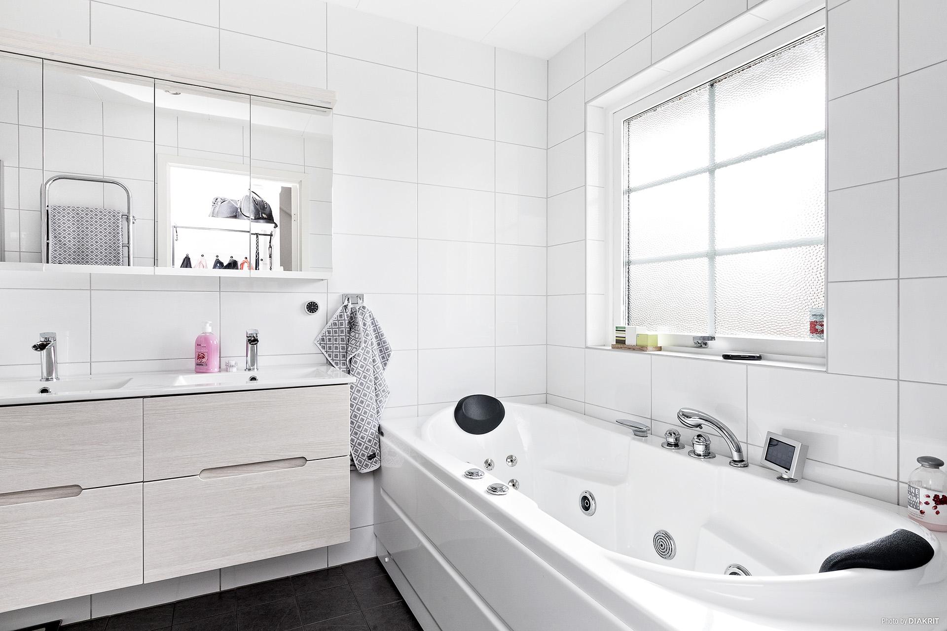 Nyrenoverad toalett/bad/dusch