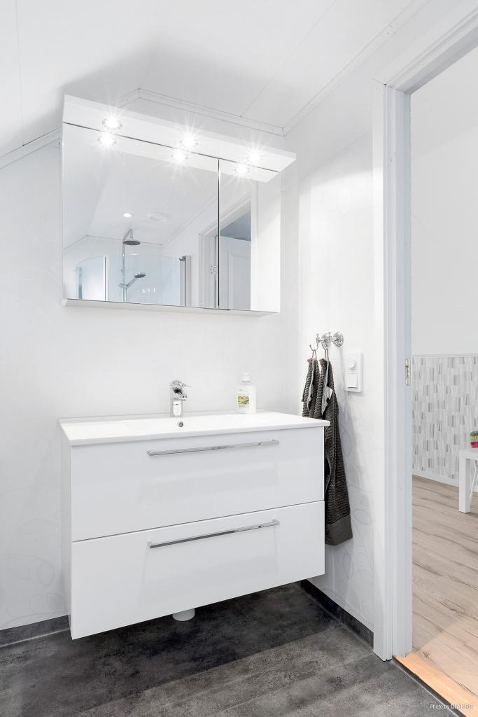 Toalett/dusch på ovanplan
