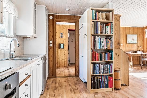 Öppet mellan kök och vardagsrum