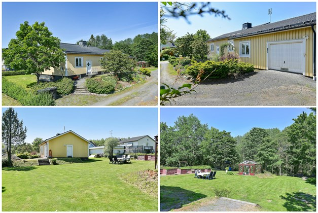 Trevlig och rymlig villa med vacker trädgård.