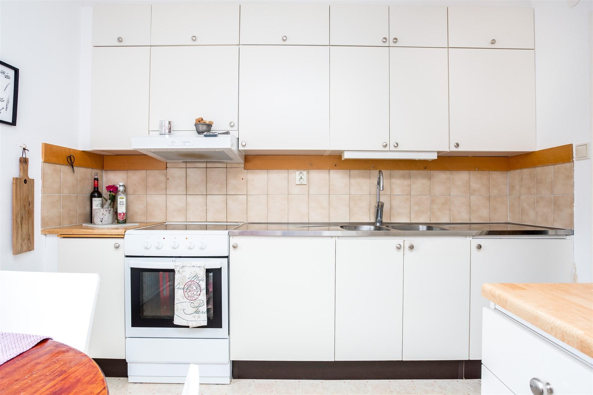 I köket finns möjlighet att sätta in diskmaskin.
